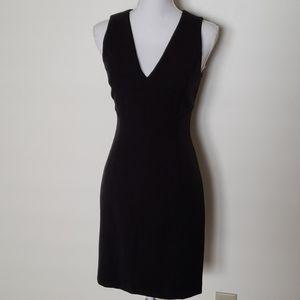 Bebe black midi dress